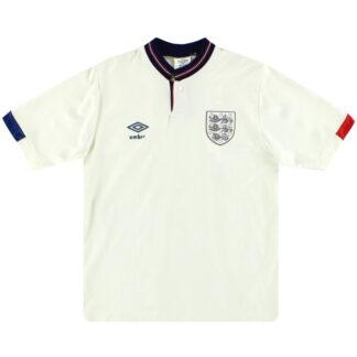 1987-90 England Umbro Home Shirt M