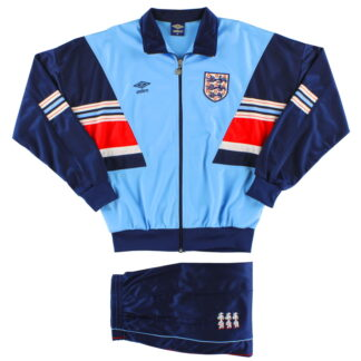 1987-90 England Umbro Tracksuit *As New* M