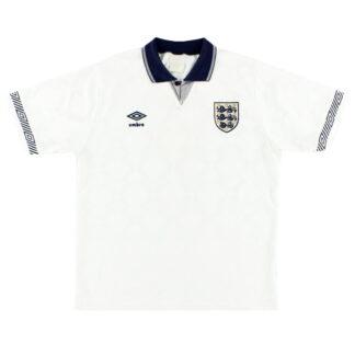 1990-92 England Umbro Home Shirt L