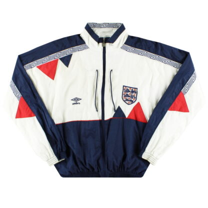 1990-92 England Umbro Shell Jacket XS