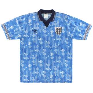 1990-92 England Umbro Third Shirt L