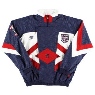 1990-92 England Umbro Woven Track Jacket XL