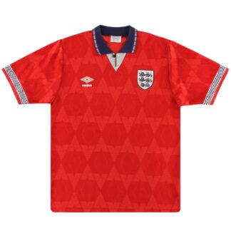 1990-93 England Umbro Away Shirt L