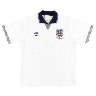 1990 England Umbro 'Italy '90' Home Shirt M