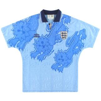 1992-93 England Umbro Third Shirt L