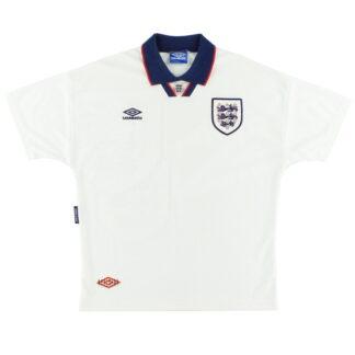 1993-95 England Umbro Home Shirt L