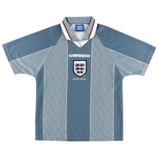1996-97 England Away Shirt L.Boys