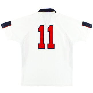 1998 England Match Issue Home Shirt #11 XL