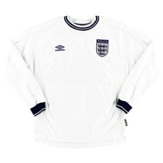 1999-01 England Home Shirt L/S L
