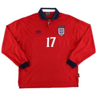 1999-01 England Player Issue Away Shirt #17 L/S XL