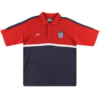 2000-01 England Umbro Polo Shirt L