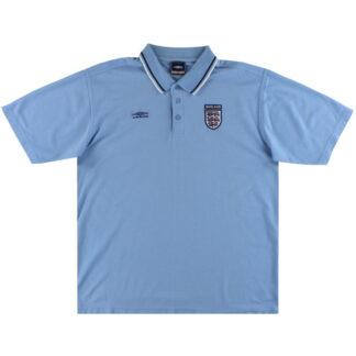 2002-03 England Umbro Polo Shirt L
