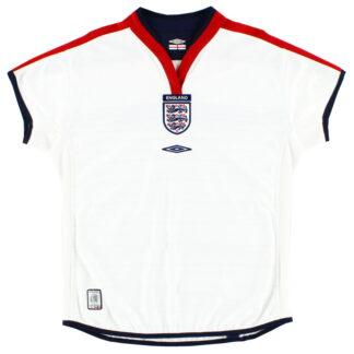 2003-05 England Home Shirt *Mint* Womens 14