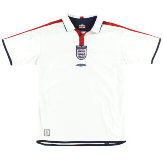 2003-05 England Umbro Home Shirt *Mint* XL