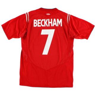 2004-06 England Away Shirt Beckham #7 XXL