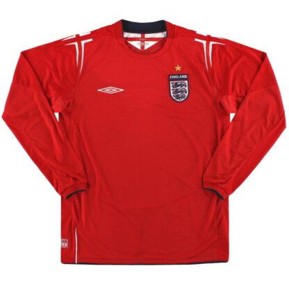 2004-06 England Umbro Away Shirt L/S XL Boys