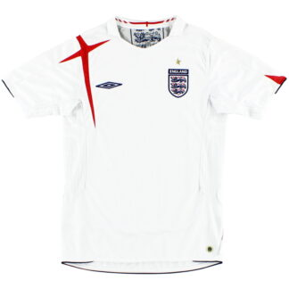 2005-07 England Home Shirt L.Boys