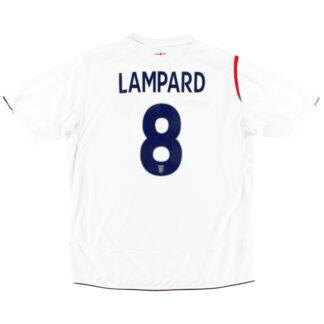 2005-07 England Home Shirt Lampard #8 XL