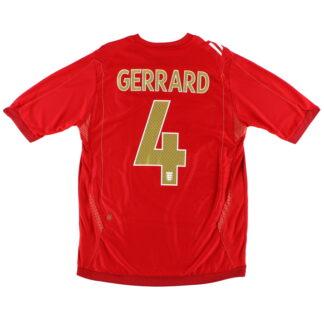 2006-08 England Away Shirt Gerrard #4 L.Boys