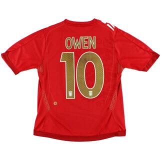2006-08 England Away Shirt Owen #10 Womens 14