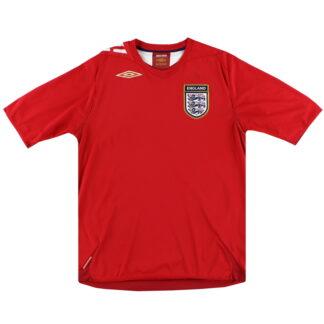 2006-08 England Umbro Away Shirt L