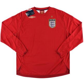 2006-08 England Umbro Away Shirt L/S *w/tags* XXL