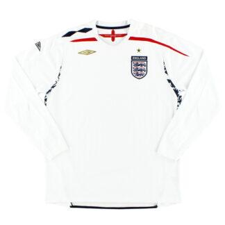 2007-09 England Home Shirt L/S XL