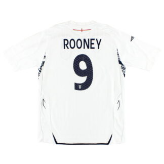 2007-09 England Home Shirt Rooney #9 L