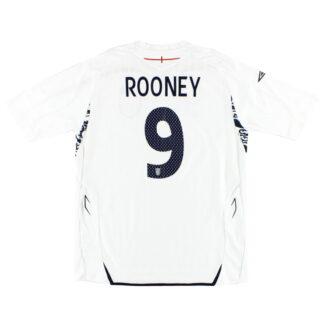 2007-09 England Home Shirt Rooney #9 *Mint* XL