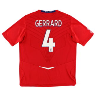 2008-10 England Away Shirt Gerrard #4 XL