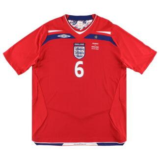 2008 England 'v France' Match Issue Umbro Away Shirt Terry #6 XL