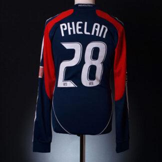 2008 New England Match Issue Home Shirt Phelan #28 L/S M