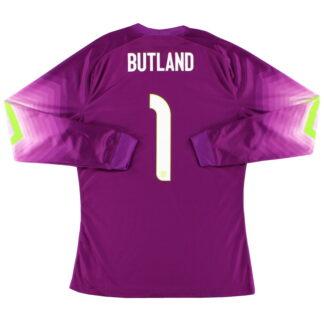 2014-15 England Player Issue Goalkeeper Shirt Butland #1 L