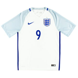 2016-17 England Nike Home Shirt #9 L