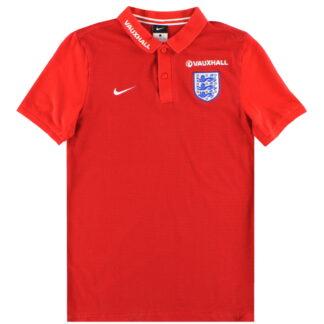 2016-17 England Nike Polo Shirt M