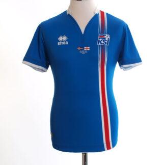 2016 Iceland 'v. England' Home Shirt S