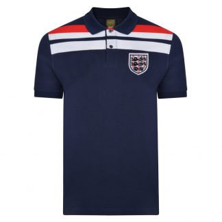 England 1982 Empire Navy Polo shirt