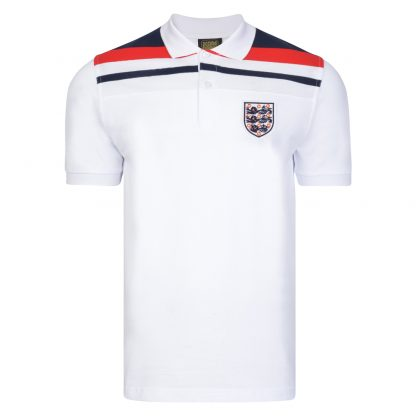 England 1982 Empire White Polo shirt