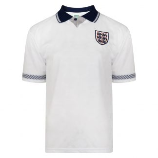 England 1990 World Cup Boys Retro Football Shirt