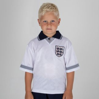 England 1990 Kids World Cup Finals Retro Football Shirt