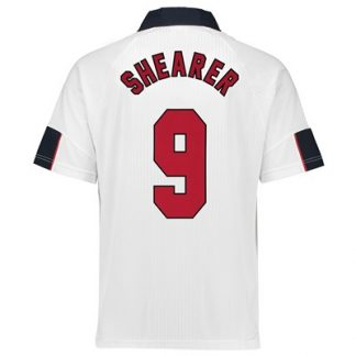 England 1998 World Cup Finals Shirt with Alan Shearer 9 printing