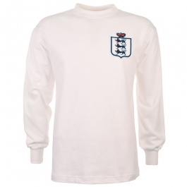 England L/S Retro Football Shirt White