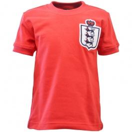 England Red Short Sleeve Retro Kids Football Shirt
